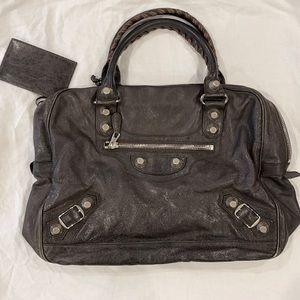 Balenciaga Giant 12 Silver City Distressed Leather